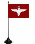 Parachute Regiment Desk / Table Flag with plastic stand and base.